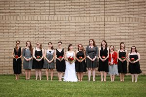 I was told by the photographer that I could not stand next to the bride in this photo, lest it be even more awkward than it already is!